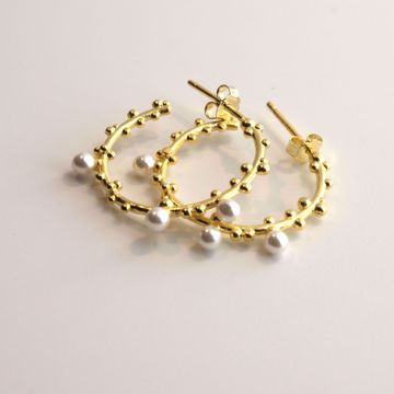 pearls-golden-hoops-sterling-silver