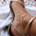 Imagem de mini conch ankle bracelet | golden