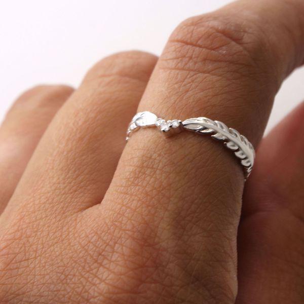 Imagem de Leaves & sparkling ring | Silver