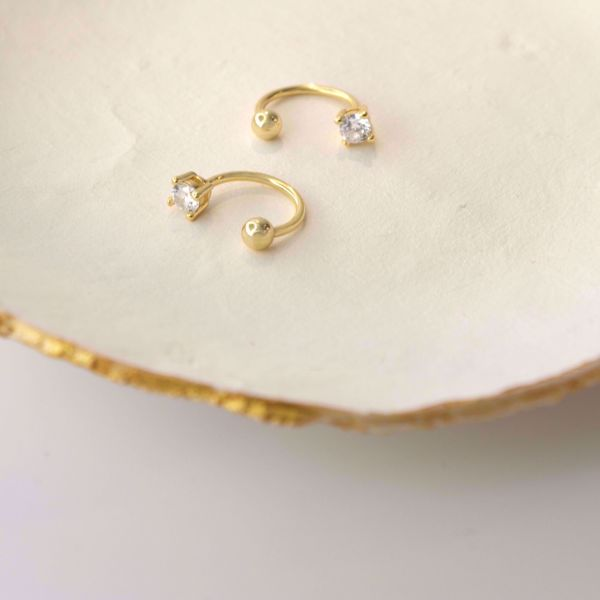 Picture of Minimal shiny piercing | golden