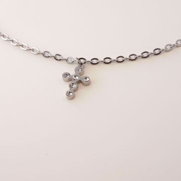 Imagem de Shiny cross necklace | Silver