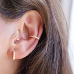 Picture of Bia huggie earrings | golden