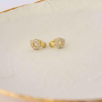 Imagem de Francesca golden huggie earring