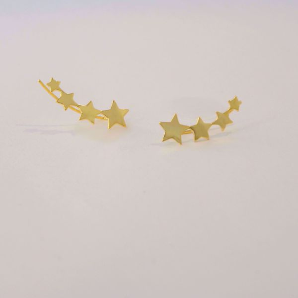 Picture of Climber stars earrings | golden