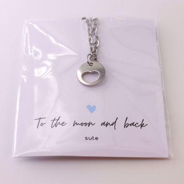 Imagem de Open heart silver necklace