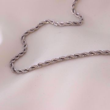 curled-plain-chain-silver-sute-jewelry