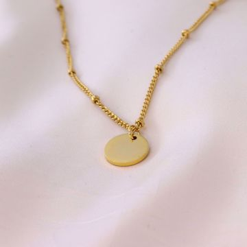 Picture of Beads coin necklace | golden