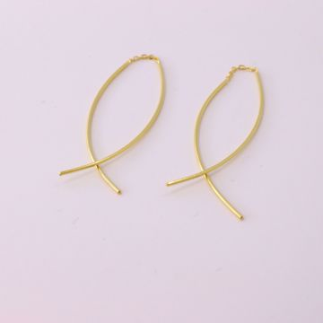 Picture of Wind dangle earrings | golden