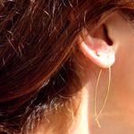 Picture of Wind dangle earrings | golden