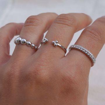 Imagem de Beads silver ring