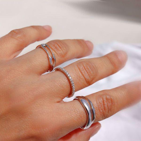 Imagem de Safety pin ring | Silver