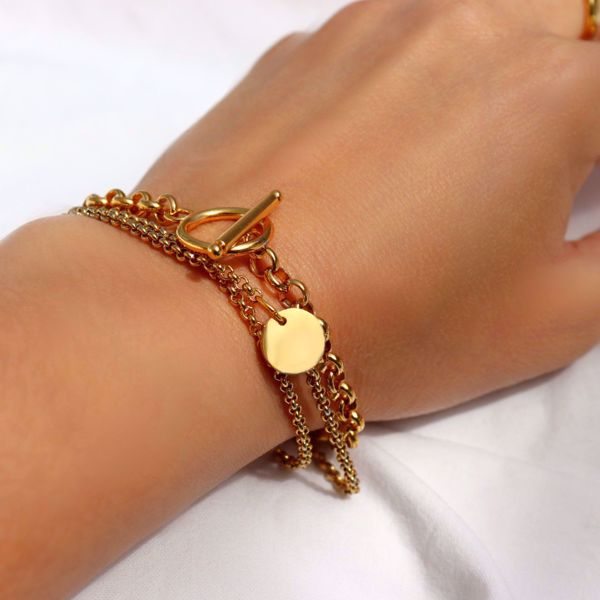 Picture of Coin bracelet | golden