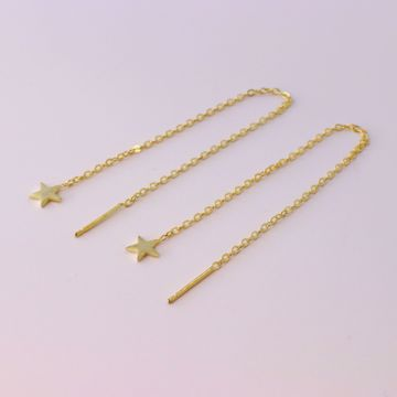 Picture of Star minimal earrings | golden