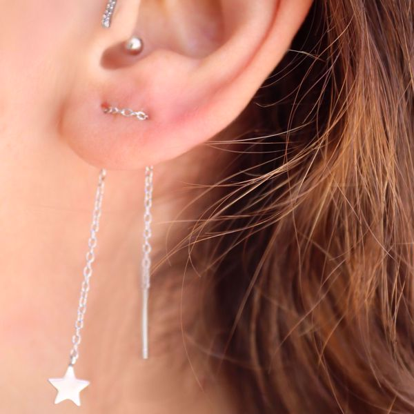 Imagem de STAR MINIMAL EARRINGS | Silver
