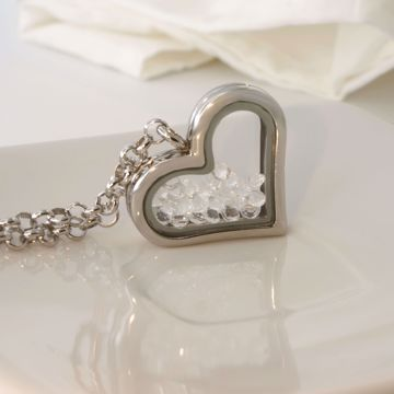 Picture of Heart shine locket necklace | silver