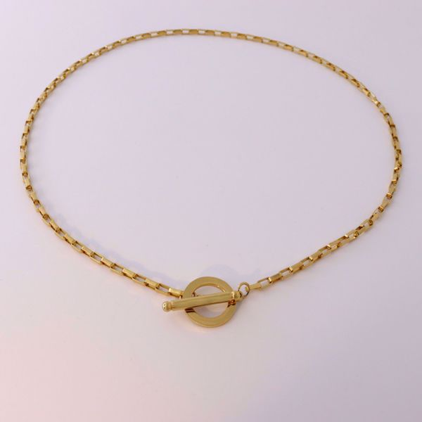 Picture of Squares necklace | golden