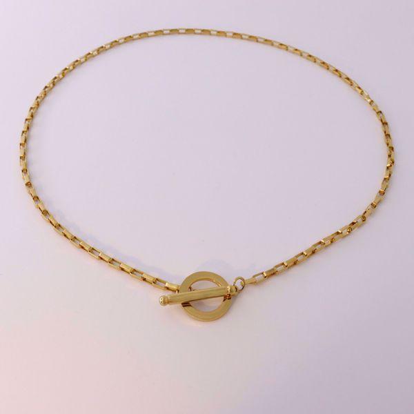 Imagem de Squares necklace | golden