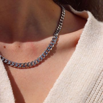 Imagem de Chunky chain necklace | silver