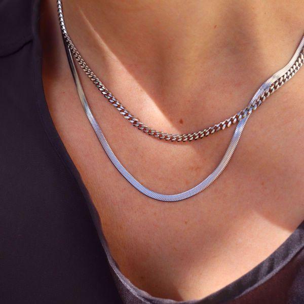 Imagem de Simple chain necklace | Silver