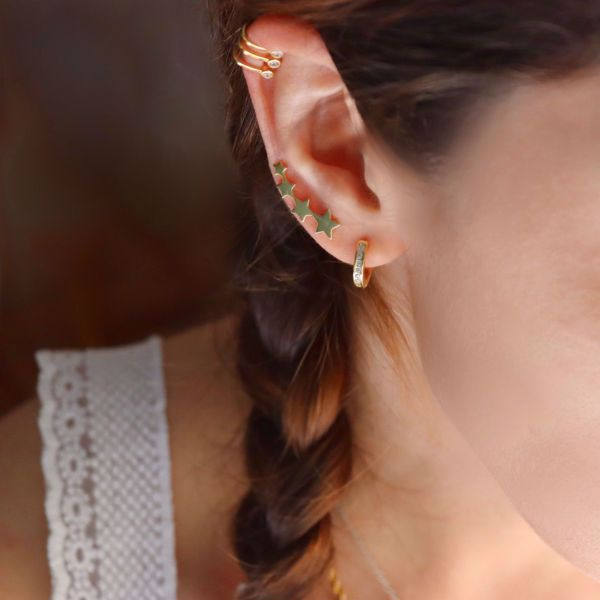Imagem de Climber stars earrings | Golden