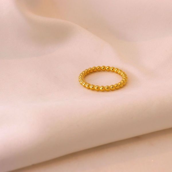 Picture of Spheres ring | golden