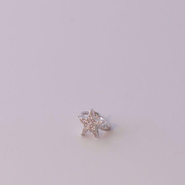 Imagem de Star silver huggie earring
