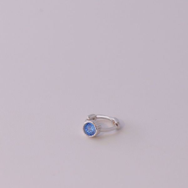Picture of Blue huggie earring | silver