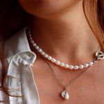 Picture of Trendy pearls necklace | silver