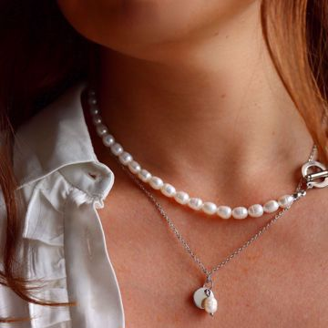 Imagem de TRENDY PEARLS NECKLACE | Silver