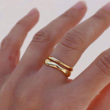 Imagem de Wind bold ring | golden