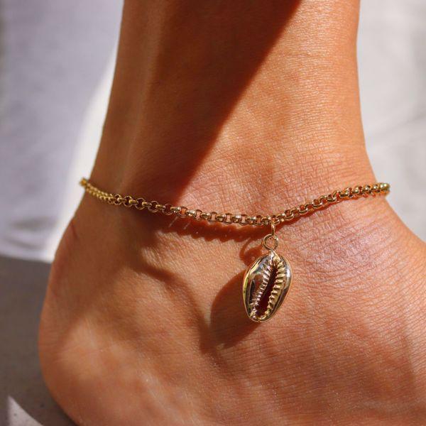Imagem de Shell ankle bracelet  | golden