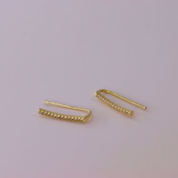 Picture of Climber shiny earrings | Golden