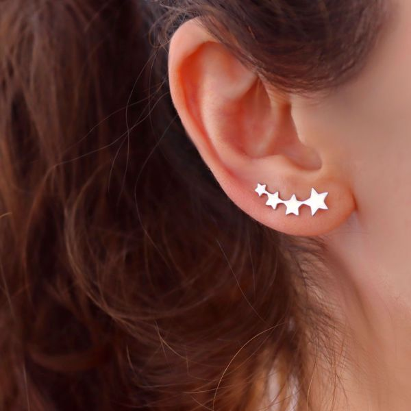 Picture of Climber stars earrings | silver