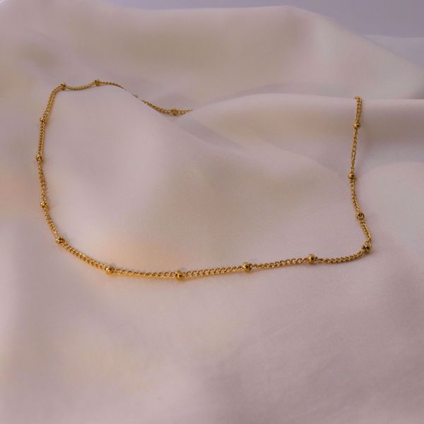 Picture of Beads necklace | golden