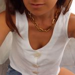 Picture of Big chain necklace | golden