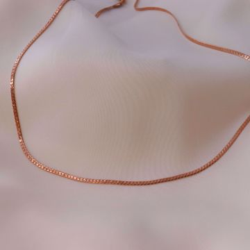 Imagem de Snake thin necklace | Rose Golden