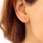 Imagem de Minimal earrings 5cm | silver