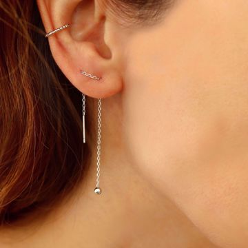 Imagem de MINIMAL EARRINGS 8,5cm | Silver