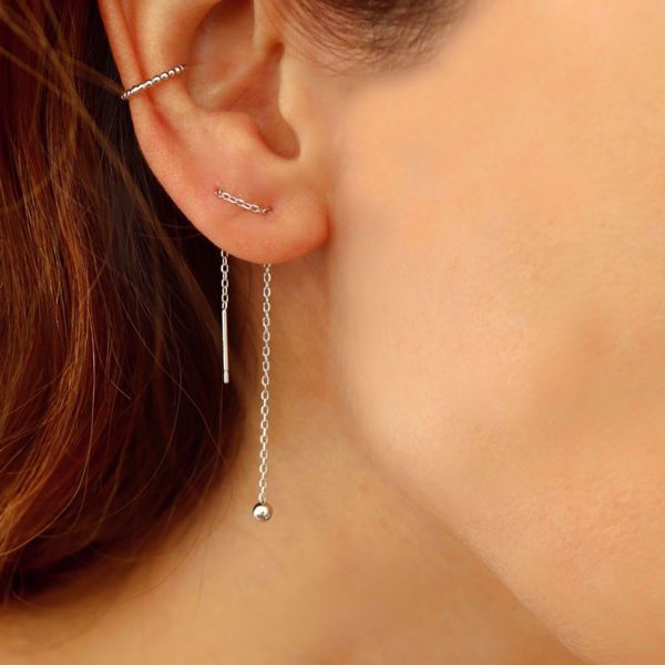 Imagem de Minimal earrings 8,5cm | silver