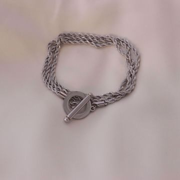 Picture of Rope bracelet | silver