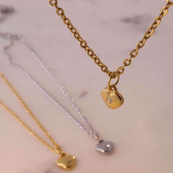 Imagem de Heart necklace golden | com gravação