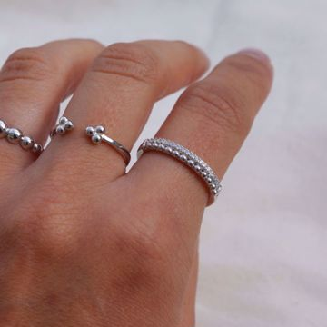 Picture of Sparkling silver ring