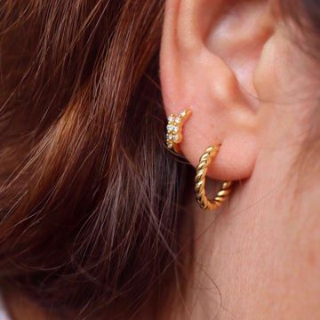 Picture of Twisted hoops | golden