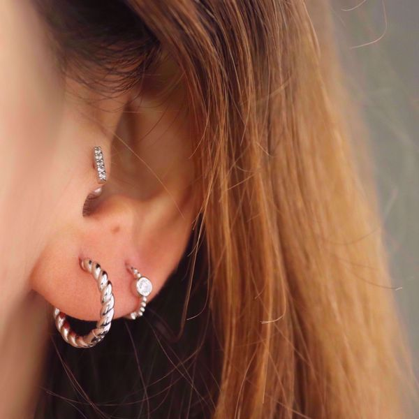 Picture of Twisted hoops | silver