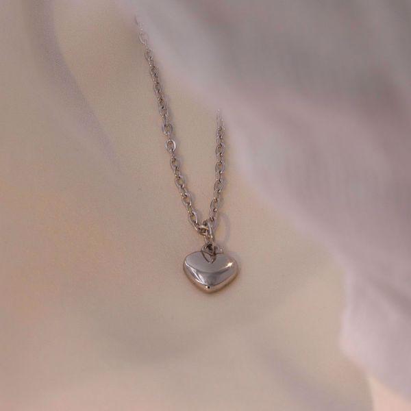 Imagem de Heart necklace silver| com gravação