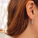 Picture of SAFETY PIN EARRING | SILVER