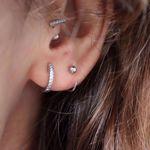 Picture of Mini hoop piercing | silver