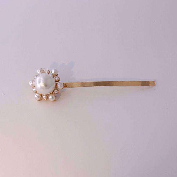 Imagem de Flower pearls hairclip