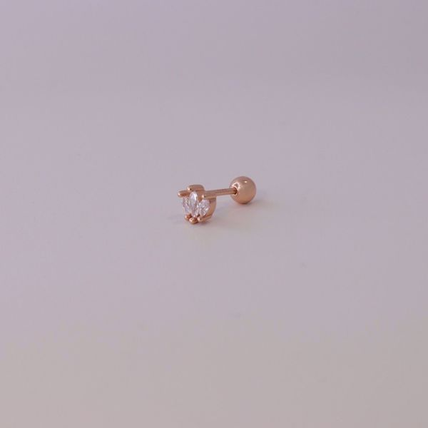 Picture of Leaves piercing | rose gold
