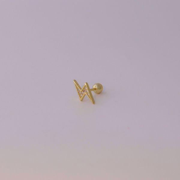 Picture of Lightning piercing | golden